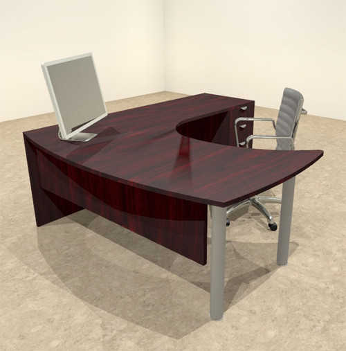 3pc L Shaped Modern Contemporary Executive Office Desk Set, #OF CON L13 ...