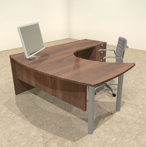 3pc L Shaped Modern Contemporary Executive Office Desk Set, #OF-CON-L14