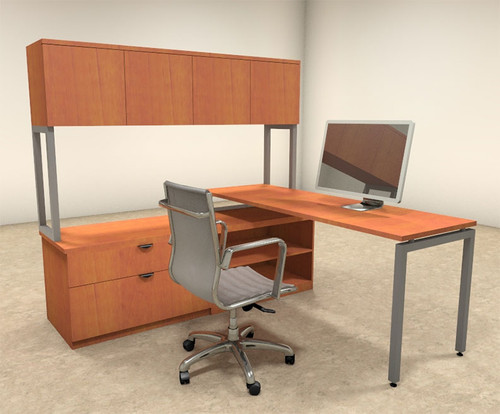 3pc L Shaped Modern Contemporary Executive Office Desk Set, #OF-CON-L36