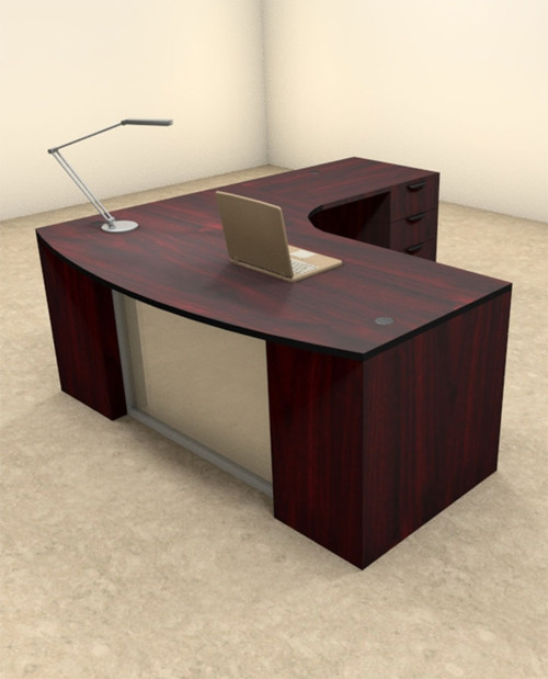 3pc L Shaped Modern Contemporary Executive Office Desk Set, #OF-CON-L58