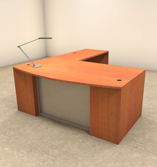 3pc L Shaped Modern Contemporary Executive Office Desk Set, #OF-CON-L61