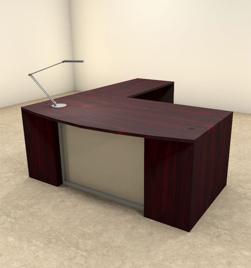 3pc L Shaped Modern Contemporary Executive Office Desk Set, #OF-CON-L63