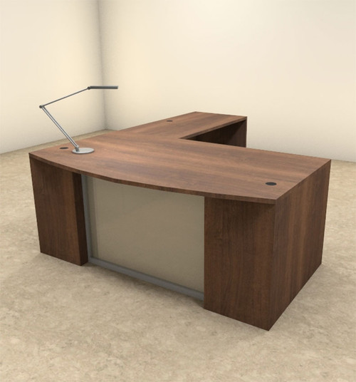 3pc L Shaped Modern Contemporary Executive Office Desk Set, #OF-CON-L64