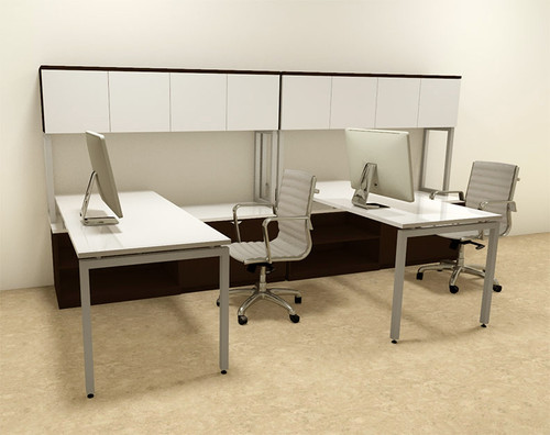 Two Persons Modern Executive Office Workstation Desk Set, #OF-CON-S10