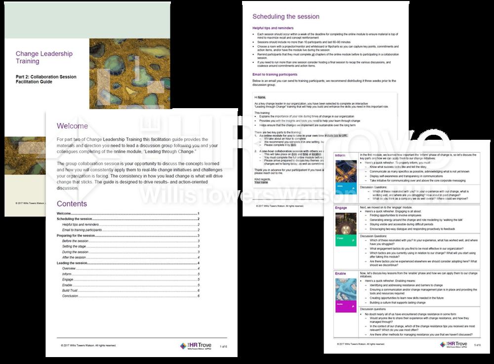 Change Leadership 101 Training Facilitation Guide Examples