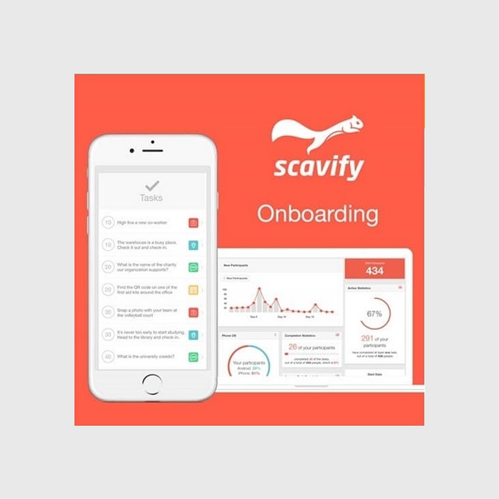 Scavify Interactive Onboarding App