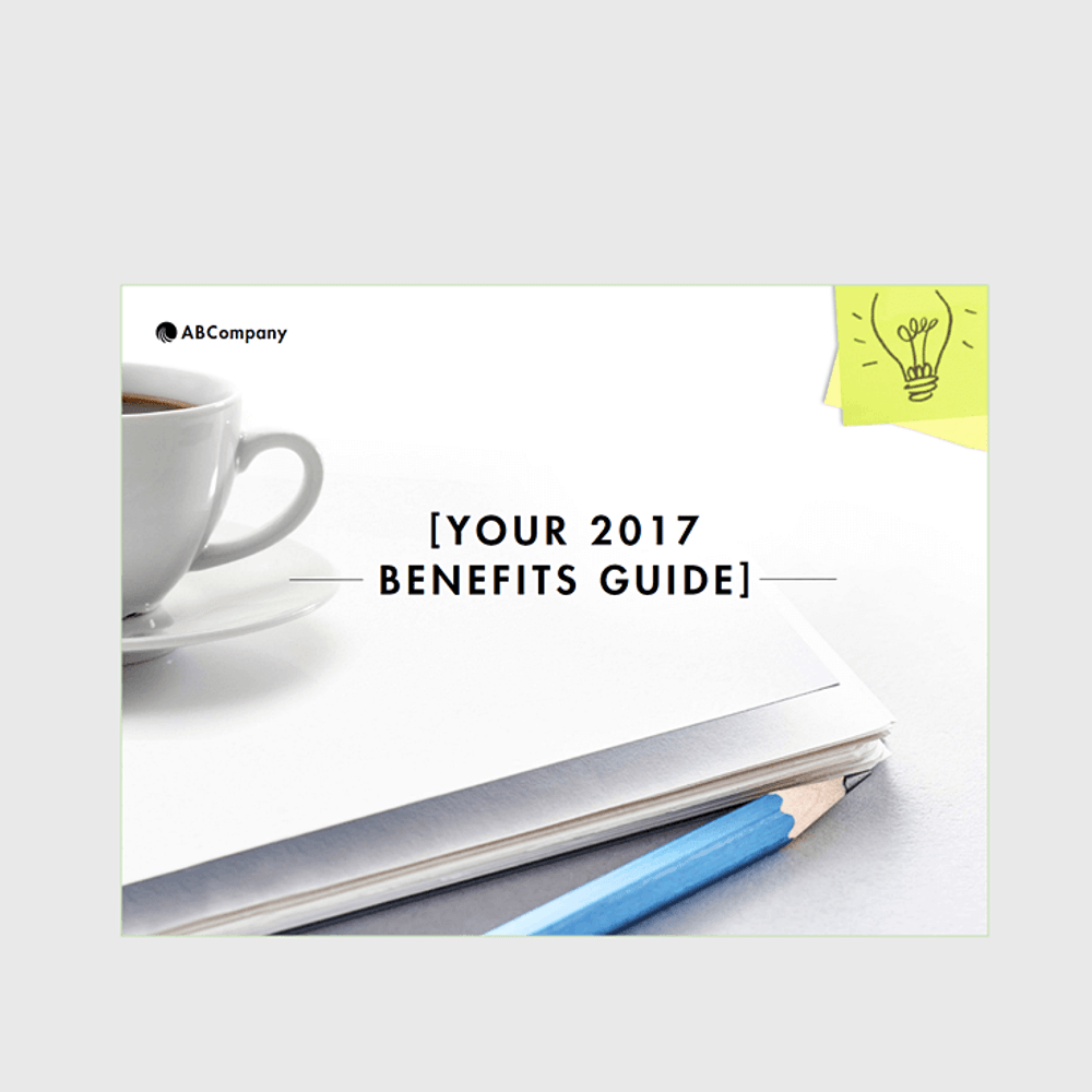 Benefits Enrollment Communication Guides (Bright Ideas Design)