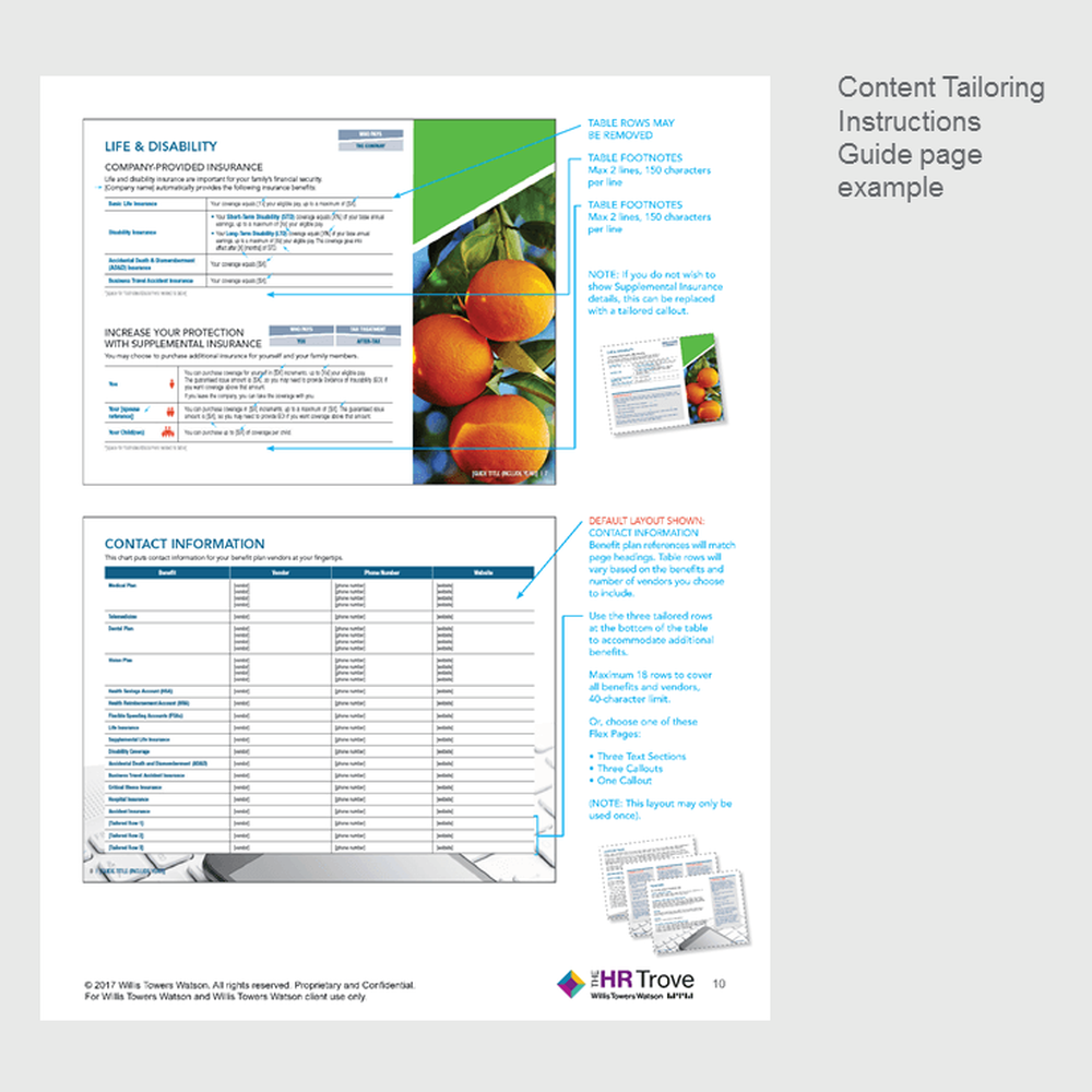 Benefits Enrollment Guide (12-page) Content Tailoring Guide Outdoor Vibrant pg 10