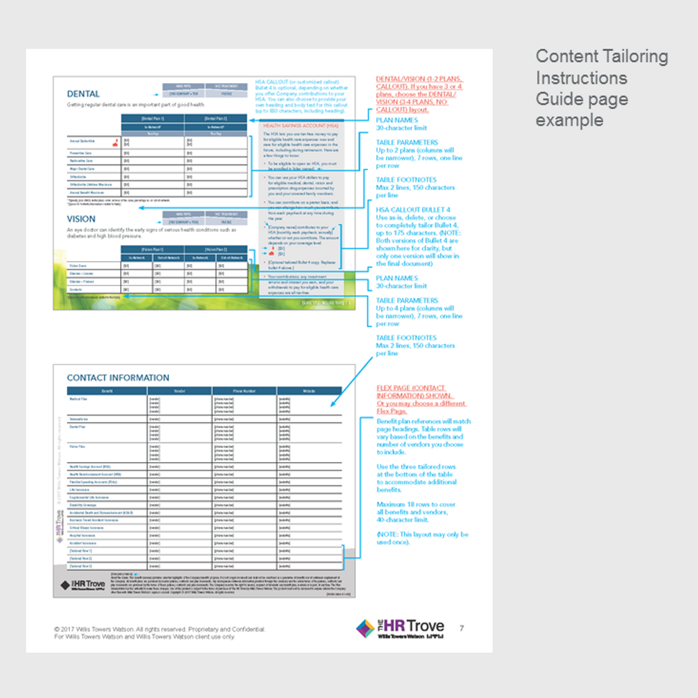 Benefits Enrollment Guide (4-page) Content Tailoring Guide Outdoor Vibrant pg 7