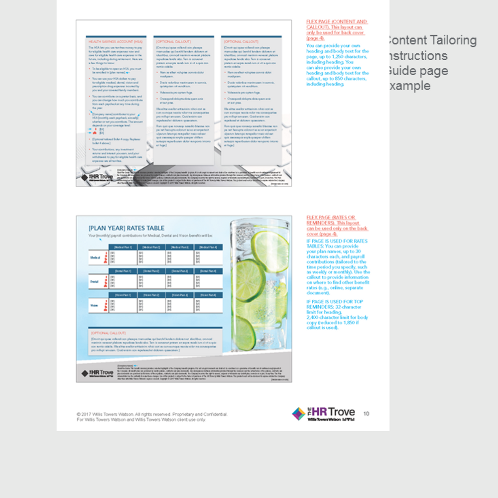 Benefits Enrollment Guide (4-page) Content Tailoring Guide Outdoor Vibrant pg 10