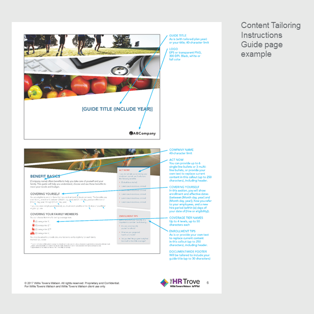 Benefits Enrollment Guide (8-page) Content Tailoring Guide Outdoor Vibrant pg 3