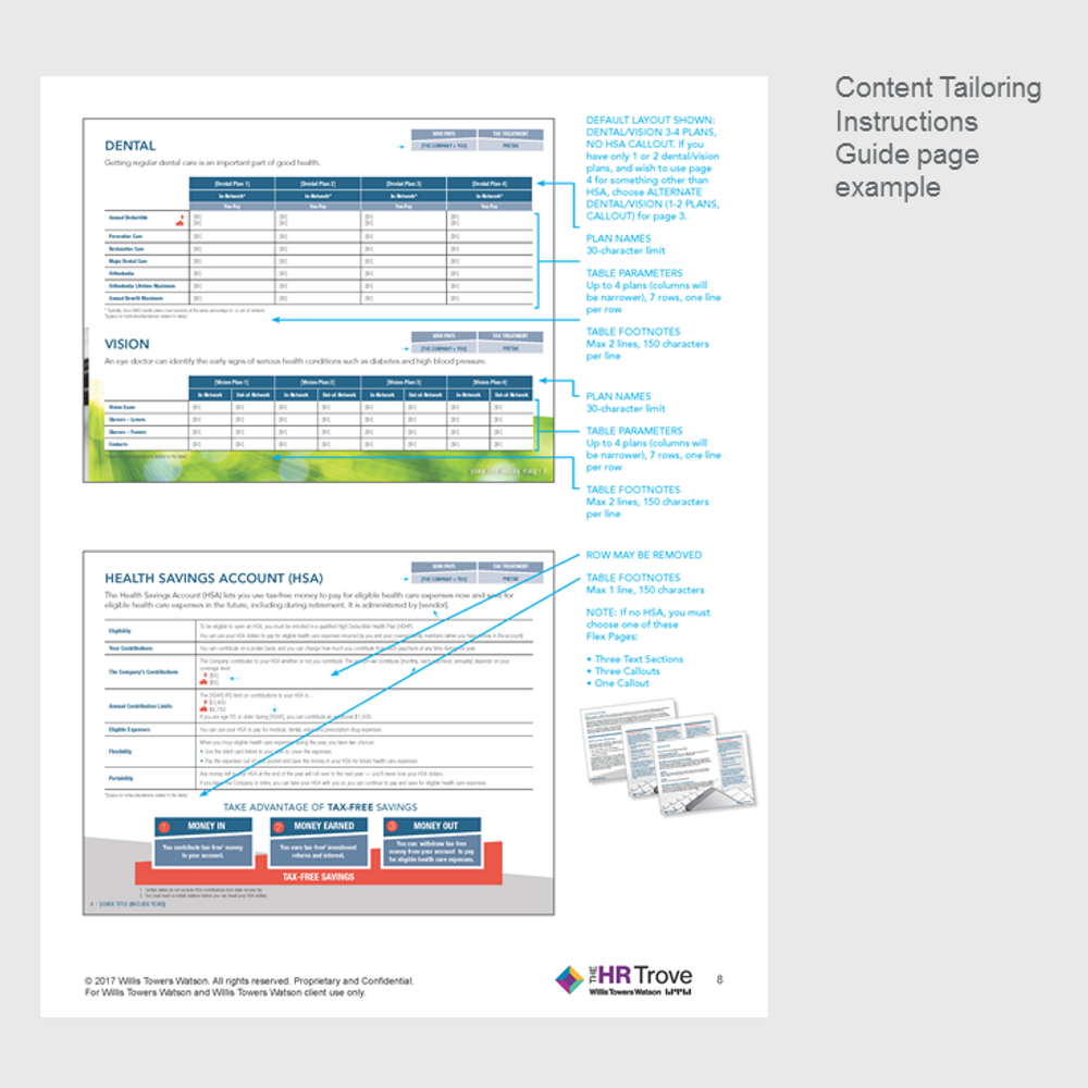 Benefits Enrollment Guide (8-page) Content Tailoring Guide Outdoor Vibrant pg 8