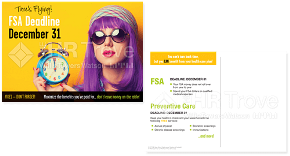 FSA Deadline Reminder Postcard (no HSA Bright design) Watermarked