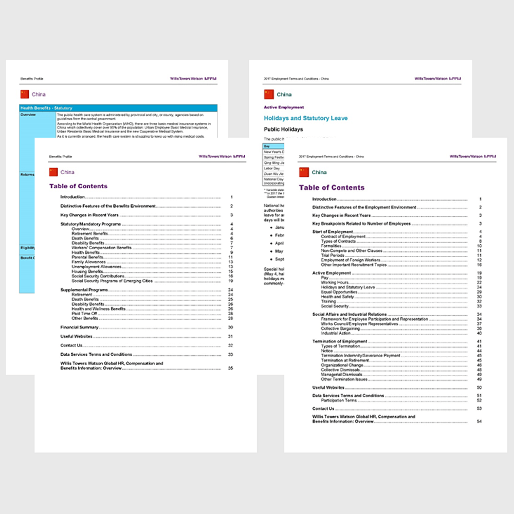 Product image for BUNDLE 2018 Benefits Profile and Employment Terms and Conditions Report