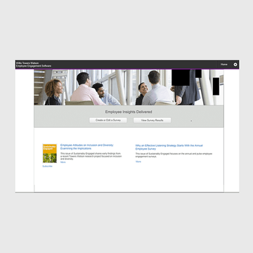 Home page for Willis Towers Watson Pulse Software