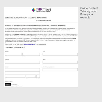Online Content Input Form page 1