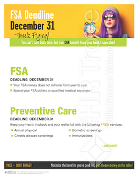 FSA Deadline Reminder Poster (no HSA Bright design) Watermarked