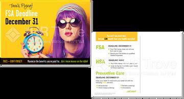FSA Deadline Reminder Postcard (with HSA Bright design) Watermarked