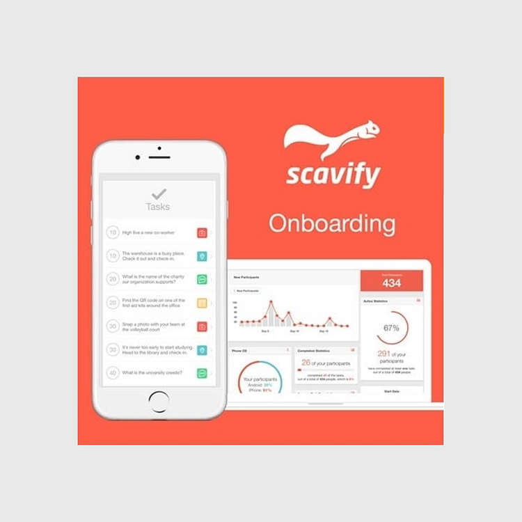Scavify Interactive Onboarding App