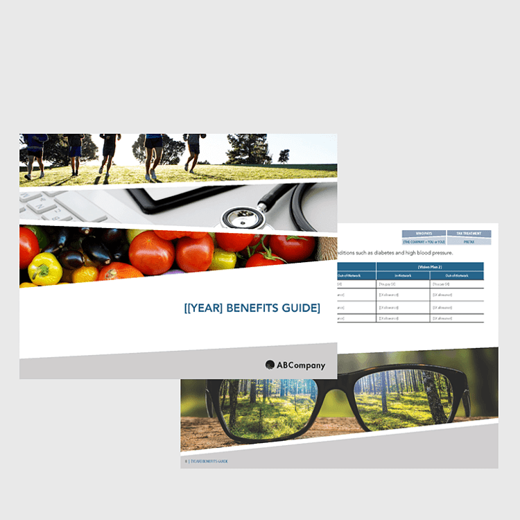 Benefits Enrollment Guide (12-page Comprehensive, Outdoor Vibrant Design)