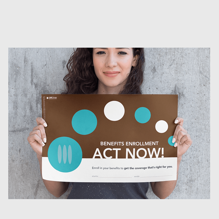 Benefits Enrollment Poster (Your Colors Design)