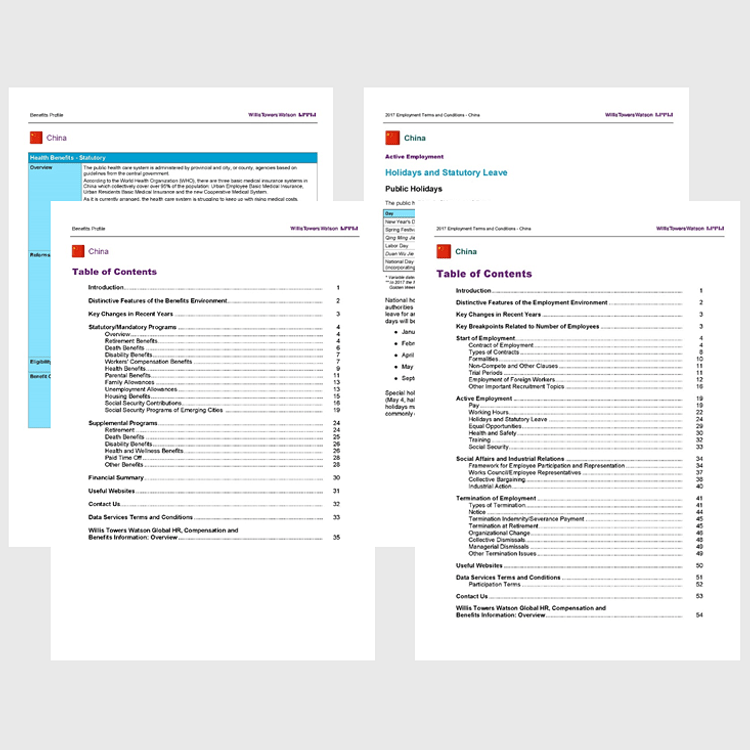Product image for 2018 Benefits Profile and Employment Terms and Conditions Report (55 other countries)