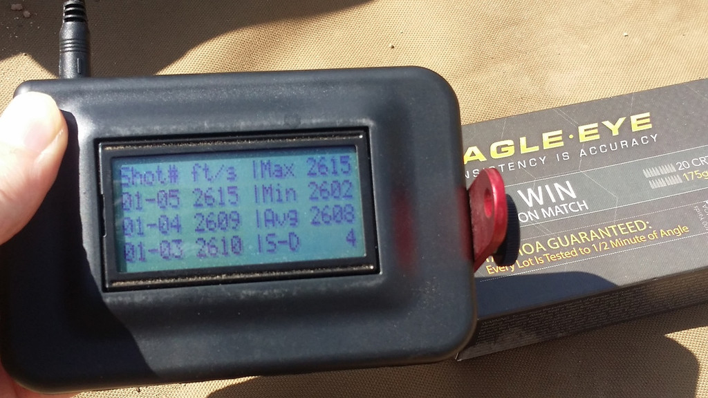 """Eagle Eye Precision 308 Win 4fps Velocity Standard Deviation Shot with 20"""" TRG-22."""