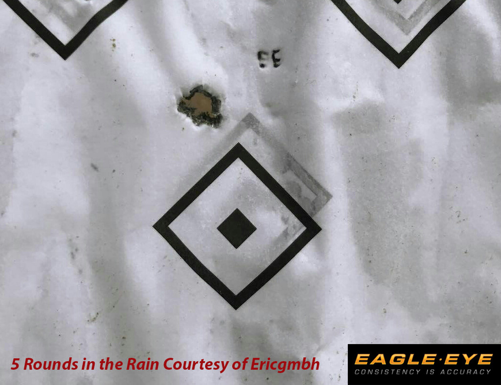 Eagle Eye 6.5 Creedmoor 130gr Hybrid 5 - Shot Group in the Rain Courtesy of Ericgmbh