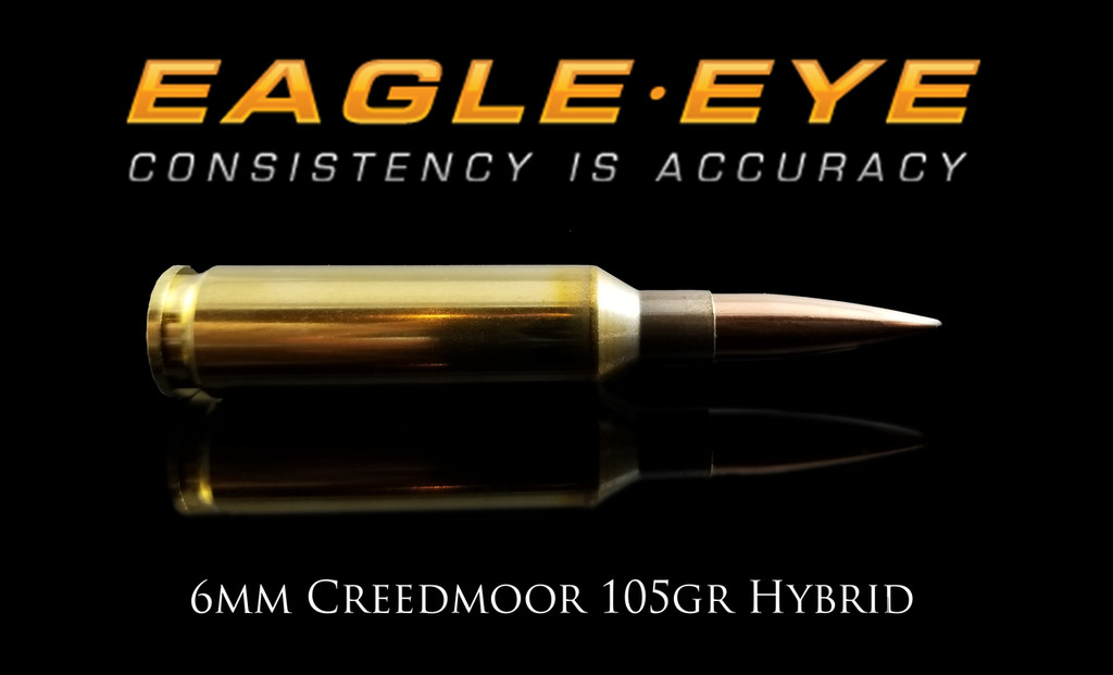 Eagle Eye 6mm Creedmoor 105gr Hybrid Ammunition Banner