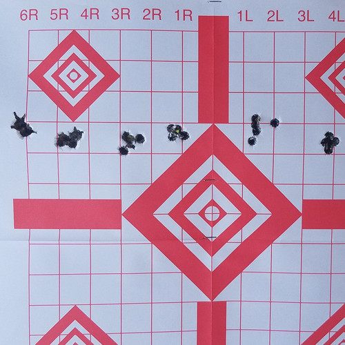 Six 5-Shot Groups with Eagle Eye 308 Win 175gr OTM