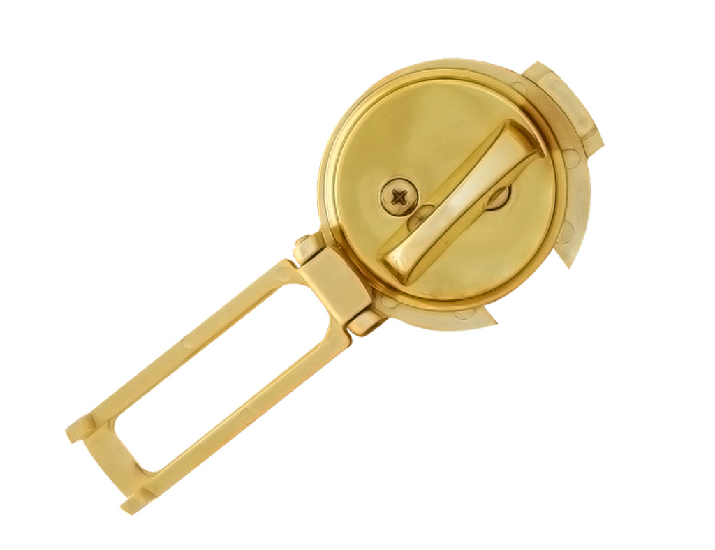 Ultimate Lock System - Flip Guard Deadbolt Security Polished Brass