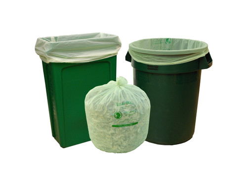 Compostable Trash Bag 39 Gallon 35 x 44 1 Mil Green  sc 1 st  StockPKG & Compostable Trash Bag 3 Gallon 17 x 17 .7 Mil Green 500/case
