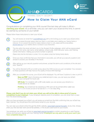 The How To's for Claiming Your AHA ECard