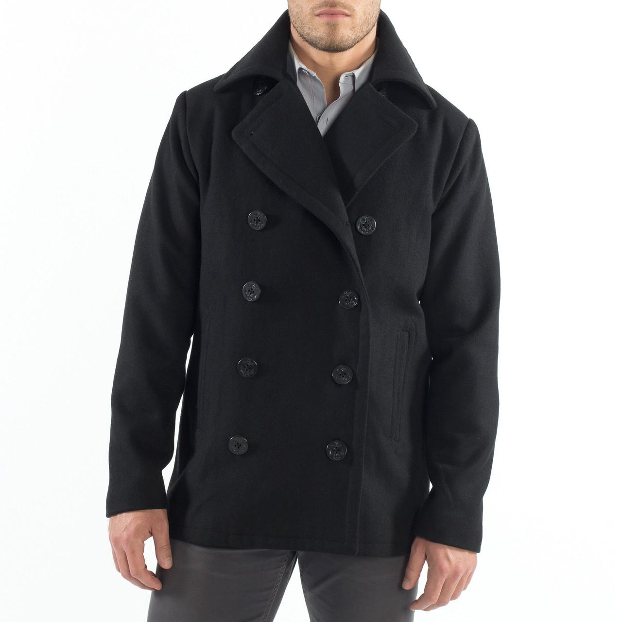 classic men's pea coat