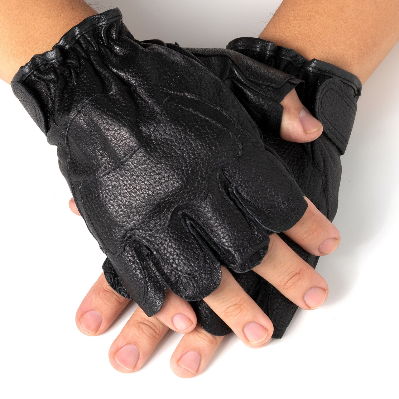 Alpine Swiss Men\'s Fingerless Gloves Genuine Leather for Workout ...