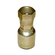 Crimp hose fitting with a swivel in order to keep your hoses from curling. Steel made with zinc plating to keep from rusting.