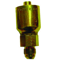 Parker's Crimp Straight Male 3/8 Adapters are made of hose steel for heightened durability and elemental resistance. This steel chromium model's assemblies can survive the rigors of medium pressure process systems.  Weight: 1 lb.