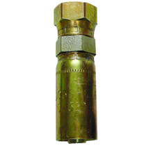 """3/8"""" (#6) Seal LOK Straight Crimp - Female This is a crimp hose fitting from a pipe to a swivel, in order to keep your hoses from twisting. Made of Chromium. 1JS56-6-6,PAR,Parker"""