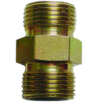 """3/8"""" (#6) Seal LOK Straight Thread This union will connect two female Seal LOK Straight Thread fittings. Made of steel, zinc plated to help prevent rusting. 6HLO-S,PAR,Parker"""