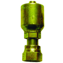 """½"""" (#8) Seal LOK Straight Swivel Permanent fitting when crimped into place on a ½"""" hydraulic hose. This fitting has a swivel head to prevent your hydraulic hoses from twisting. Made from steel, zinc dichromate plating to help prevent rust. 1JS43-8-8"""