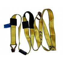 10ft Car Hauler  Strap with Double J Hooks, Tire Grippers, and Protective Sleeve