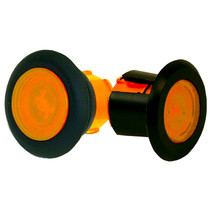 The world's smallest LED lamp for the transportation industry, this amber Truck-Lite Bullet Marker and Clearance Light has epoxy-sealed electronics to resist corrosion and moisture. It's hard-wired, so it can easily be retrofitted.  - Size: 0.75 in.  - Flange thickness: 0.04 to 0.25 in.  - Grommet thickness: 0.125 to 0.25 in. | OEM Part Number: 33050Y3