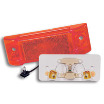 """Make your vehicle visible with these three red 2"""" x 6"""" TruckLite Marker & Clearance Lights. Their optic design doubles the function of one PC-rated lamp, and the LED's consume less power that be used for other vehicle components. 