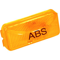 """Attach this amber Truck-Lite ABS Light to even narrow header rails with its simple snap-lock tabs. Its rectangular polycarbonate housing and lens can be mounted vertically or horizontally to provide a hassle-free solution to your lighting needs.  - Dimensions: 1.21"""" x 2.49"""" x 0.83""""  - Long-life 15,000-hour incandescent bulb  - Suitable for PC requirements on a 45-degree angle"""