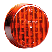 "2.5"" Red - 13 LED's  Red, Amber, Red Clear Lens, or Amber Clear Lens  LED's 13 x 5 mm  Diameter 2.5""  Depth 0.7""  Mounting Grommet  Connector PL-2  Fits Standard Mounting Holes, Grommets, & Connectors  Polycarbonate Lens & Housing  100,000 Hour Rated LED"