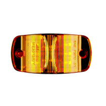 "Combo Amber - 14 LED'sAmber  LED's 14 x 5 mm  Width 4.00""  Height 2.00""  Depth 1.0""  Mounting Surface  Connector Bullet & Ring  Meets P2PC Requirements for 45 Mounting  One Piece Sealed Unit Fits Standard 3 Mounting Holes  100,000 Hour Rated LED Life M230"