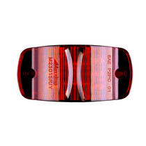 """Combo Red - 14 LED's  Red or Amber  LED's 14 x 5 mm  Width 4.00""""  Height 2.00""""  Depth 1.0""""  Mounting Surface  Connector Bullet & Ring  Meets P2PC Requirements for 45 Mounting  One Piece Sealed Unit Fits Standard 3 Mounting Holes  100,000 Hour Rated LED Li"""