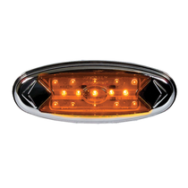 """Illuminate surroundings with this Maxxima Pete Light. It has 15 LEDs for visibility, and the 100,000-hour-rating means this light is in it for the long haul. Installation is a breeze using the snap on bezel that comes ready to mount with screws included.  - Length 5.9""""  - Height 2.15""""  - Diameter 0.9""""  - LEDs 5mm Diodes  - Voltage 12.8 VDC 