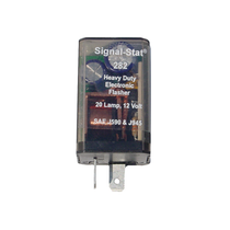This little flasher will flash 70 to 120 flashes per minute, with the first flash less then 1.3 seconds after you turn it on.  It functions at 12v per minute and is good for 36 continuous hours. 97207,TKL,TruckLite