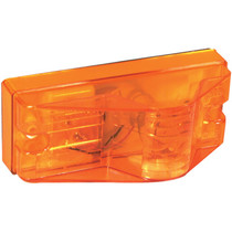 """This Truck-Lite Midpoint Side Turn Signal is durably constructed and easy to mount with a simple L bracket and two screws. Both the housing and lens material for this 12-volt amber incandescent light are made with polycarbonate material.  - Size: 2"""" x 6"""" 